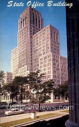 State Office Bldg - Albany, New York NY Postcard