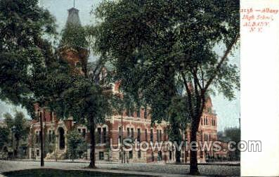 Albany High School - New York NY Postcard