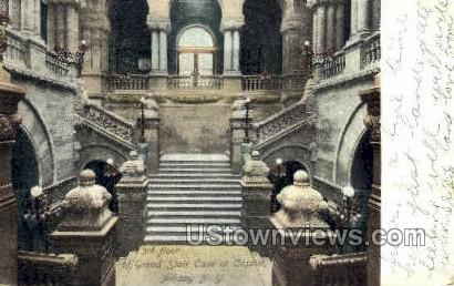 Grand Stair Case at Capitol - Albany, New York NY Postcard