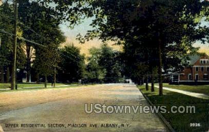 Madison Ave. - Albany, New York NY Postcard