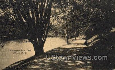 Washington Park Lake - Albany, New York NY Postcard
