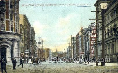 Broadway, State Street - Albany, New York NY Postcard