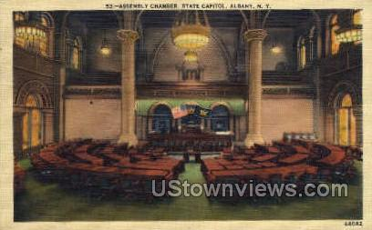 Assembly Chamber, State Capitol - Albany, New York NY Postcard
