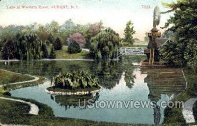 Lake at Wolforts Roost - Albany, New York NY Postcard