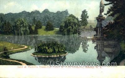 Lake at Wolfert's Roost - Albany, New York NY Postcard