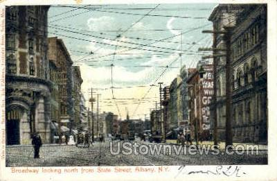 Broadway, State Street - Albany, New York NY Postcard