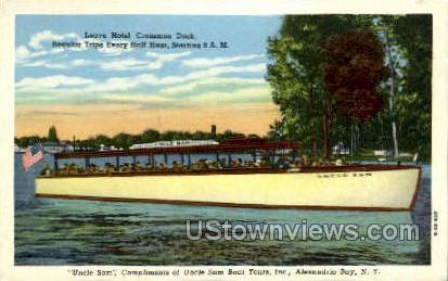 Uncle Same Boat Tours, Inc. - Alexandria Bay, New York NY Postcard