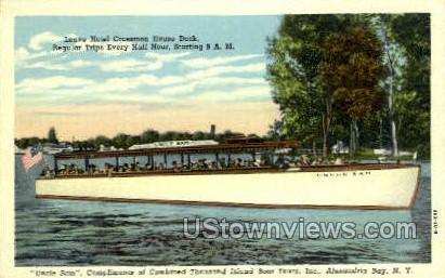 Thousand Island Boat Tours, Inc. - Alexandria Bay, New York NY Postcard