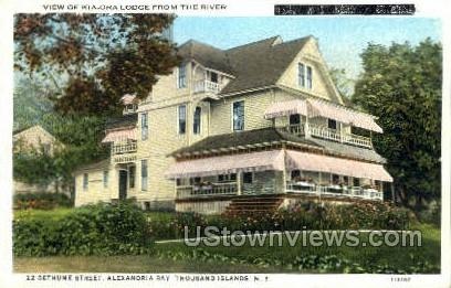 Kia-ora Lodge - Alexandria Bay, New York NY Postcard