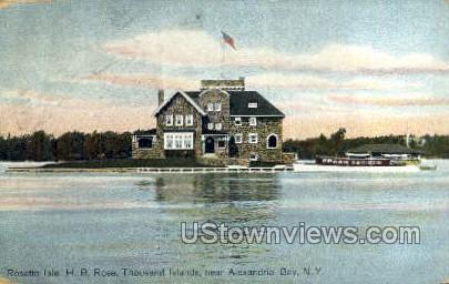 Rosette Isle - Alexandria Bay, New York NY Postcard
