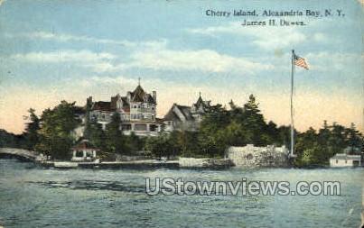 Cherry Island - Alexandria Bay, New York NY Postcard