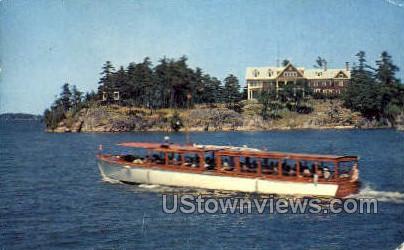 Bonnie Castle on Holland Point - Alexandria Bay, New York NY Postcard