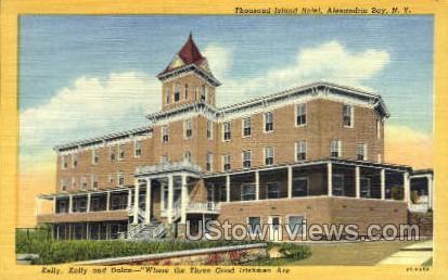 Thousand Island Hotel - Alexandria Bay, New York NY Postcard