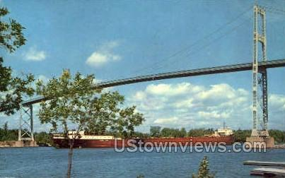 1,000 Islands International Bridge - Alexandria Bay, New York NY Postcard