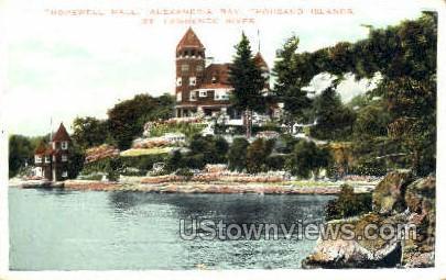Hopewell Hall - Alexandria Bay, New York NY Postcard