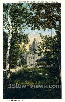 Boldt Castle, Heart Island - Alexandria Bay, New York NY Postcard