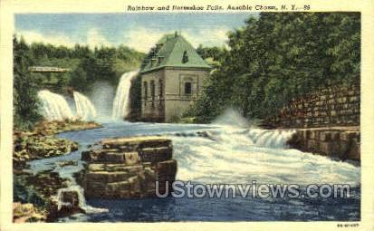 Horseshoe Falls - Ausable Chasm, New York NY Postcard