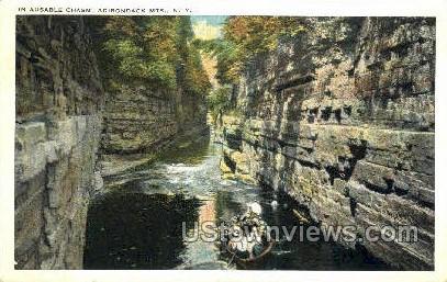 Adirondack Mts. - Ausable Chasm, New York NY Postcard