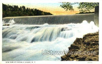 New Dam - Ausable Chasm, New York NY Postcard