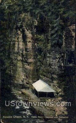 Cathedral - Ausable Chasm, New York NY Postcard
