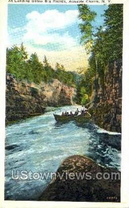 Big Rapids - Ausable Chasm, New York NY Postcard