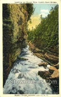 Hydes Cave - Ausable Chasm, New York NY Postcard