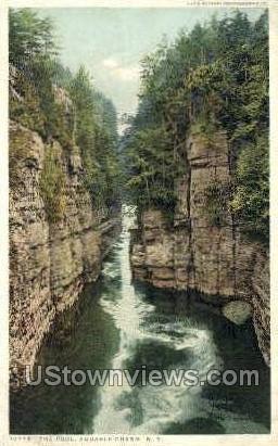 The Pool - Ausable Chasm, New York NY Postcard