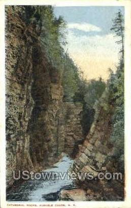 Cathedral Rocks - Ausable Chasm, New York NY Postcard