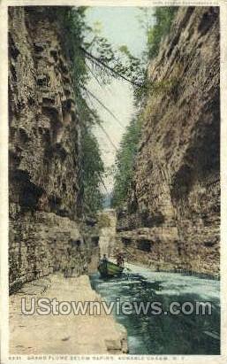 Grand Flume - Ausable Chasm, New York NY Postcard