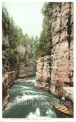 The Flume - Ausable Chasm, New York NY Postcard