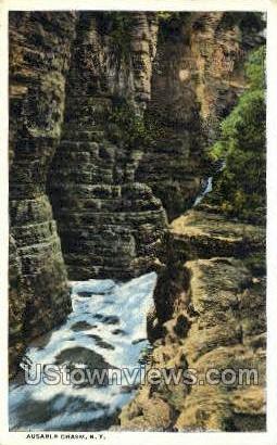 Ausable Chasm, New York, NY Postcard