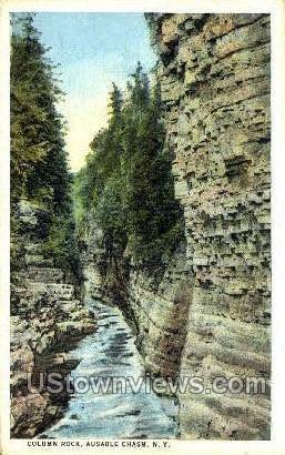 Column Rock - Ausable Chasm, New York NY Postcard
