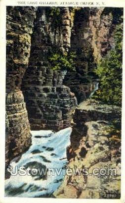 Long Gallery - Ausable Chasm, New York NY Postcard
