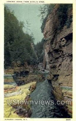 Devil's Oven - Ausable Chasm, New York NY Postcard
