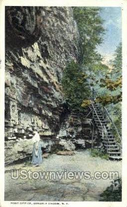 Post Office - Ausable Chasm, New York NY Postcard