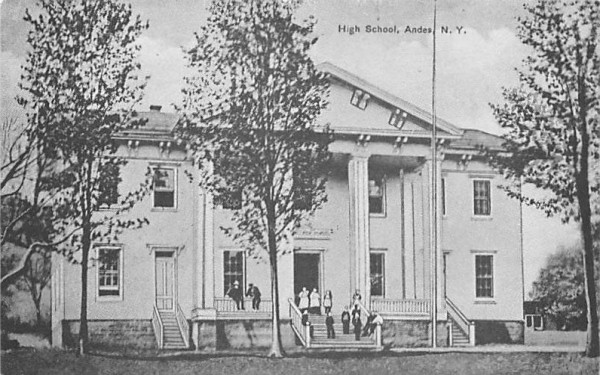 High School Andes, New York Postcard