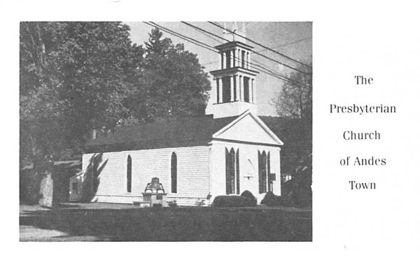 Presbyterian Church Andes, New York Postcard