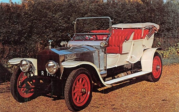 1909 Rolls Royce Silver Ghost Andes, New York Postcard