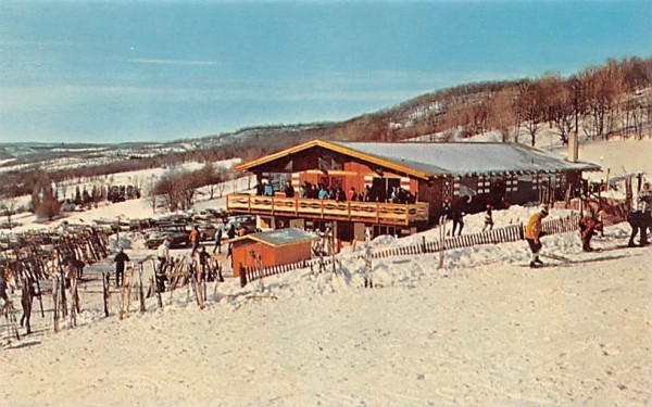 Catskill Ski Center Andes, New York Postcard