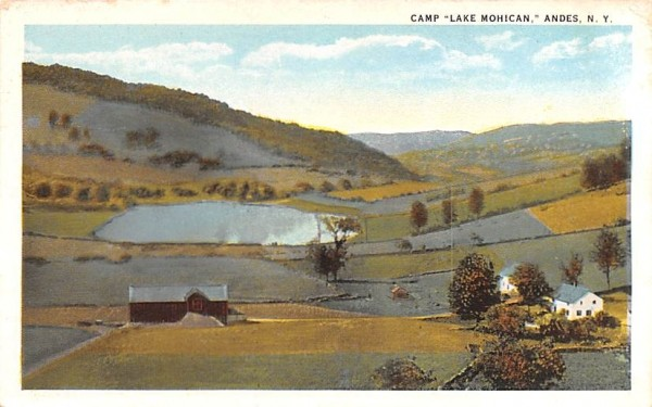 Camp Lake Mohican Andes, New York Postcard