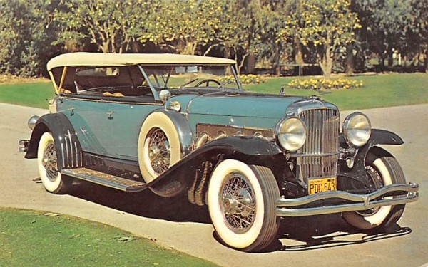 1929 Duesenberg Andes, New York Postcard