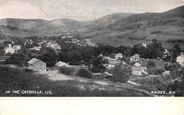 Catskills Andes, New York Postcard