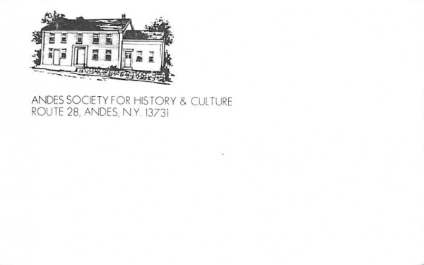 Andes Society for History & Culture New York Postcard