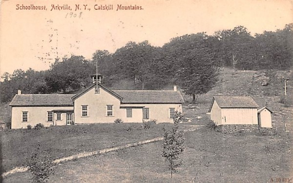 School House Arkville, New York Postcard