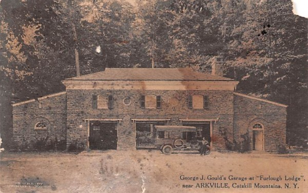 George J Gould's Garage Arkville, New York Postcard
