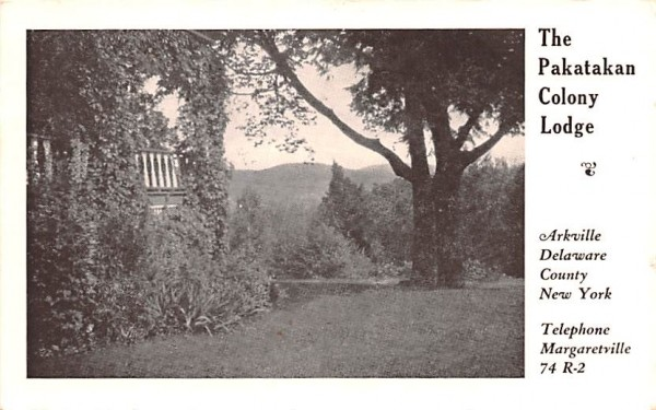 Pakatakan Colony Lodge Arkville, New York Postcard