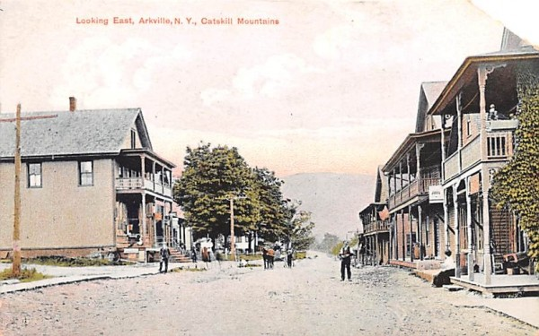 Looking East Arkville, New York Postcard