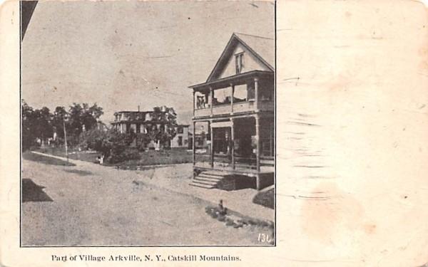 Part of Vilalge Arkville, New York Postcard