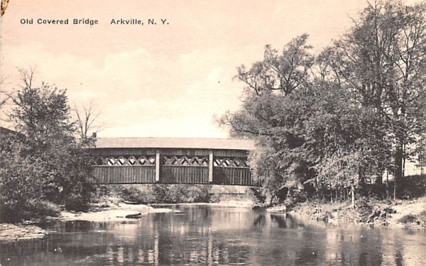 Old Covered Bridge Arkville, New York Postcard
