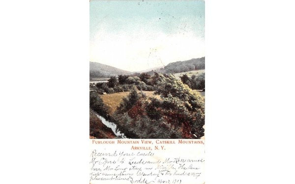 Furlough Mountain View Arkville, New York Postcard